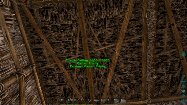 Here we have a simple flat roof on a hut in Ark. It's easy, and it's cheaper than sloped.