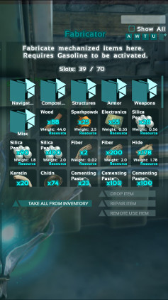 Crafting using the fabricator ark survival evolved this image shows the fabricator filled with resources in ark malvernweather Choice Image