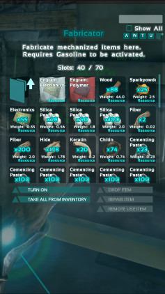 Crafting Using The Fabricator - Ark: Survival Evolved