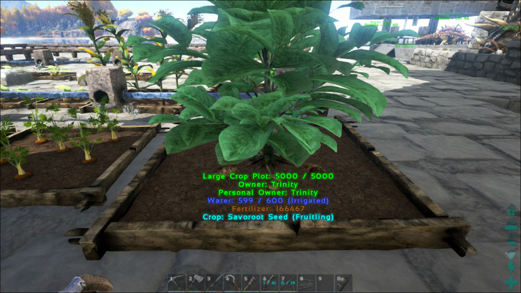 Savroot is an advanced crop in Ark. While its seeds can be found by harvesting nearly any bush, Savroot can only be found and harvested in Crop Plots.