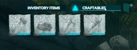 The first item to craft is the Stone Pick. You need this as soon as you can craft it.