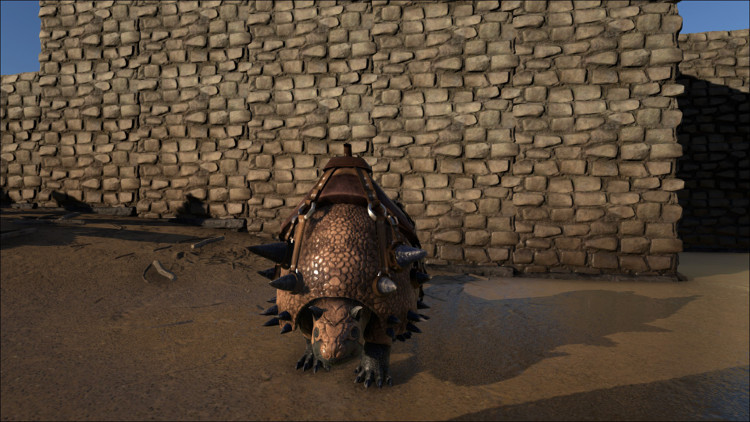 The Doedicurus is the best Stone Harvesting Dino in Ark. It harvests stone, wood and thatch, producing large volumes of Stone quite quickly.